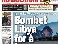 stoltenberg bombet libya for å trene