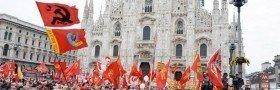 Streik og demonstrasjon i Milano