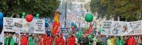 Generalstreik mot nedskjæringspolitikken i Belgia