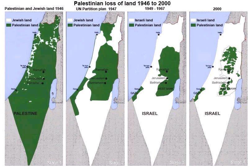 palestina kart