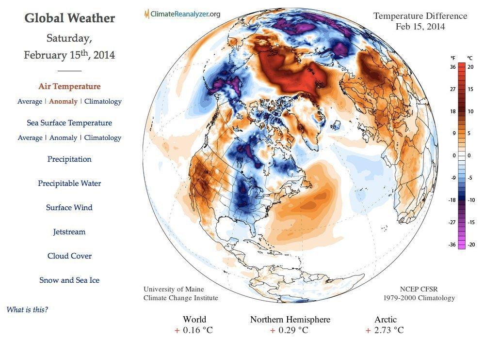 globalt vær