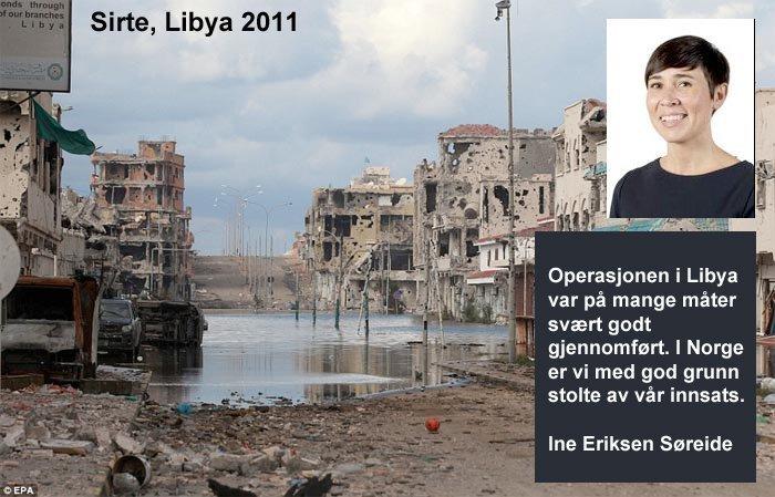 Offisielt er Norge stolt av sin bombing av Libya.