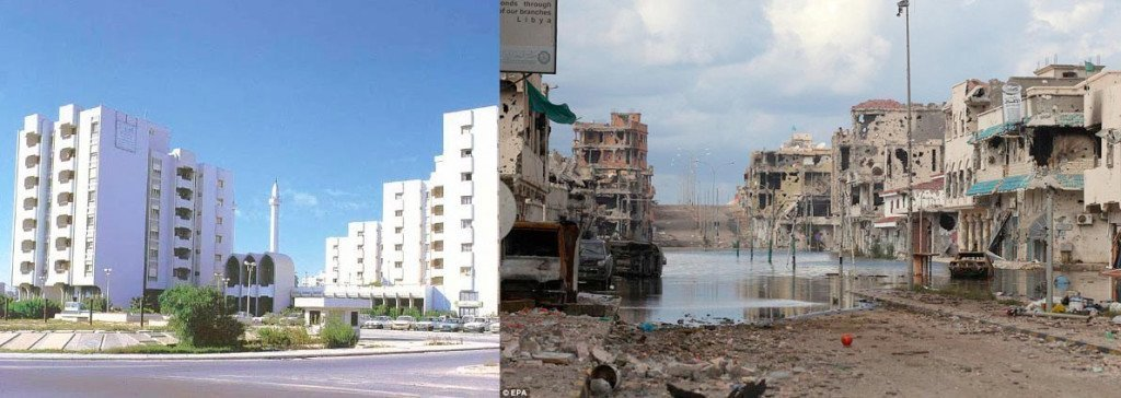 """Havnebyen Sirte før og etter NATOs """"frigjøring"""""""
