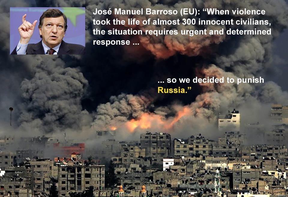 gaza bombing eu hipocrite