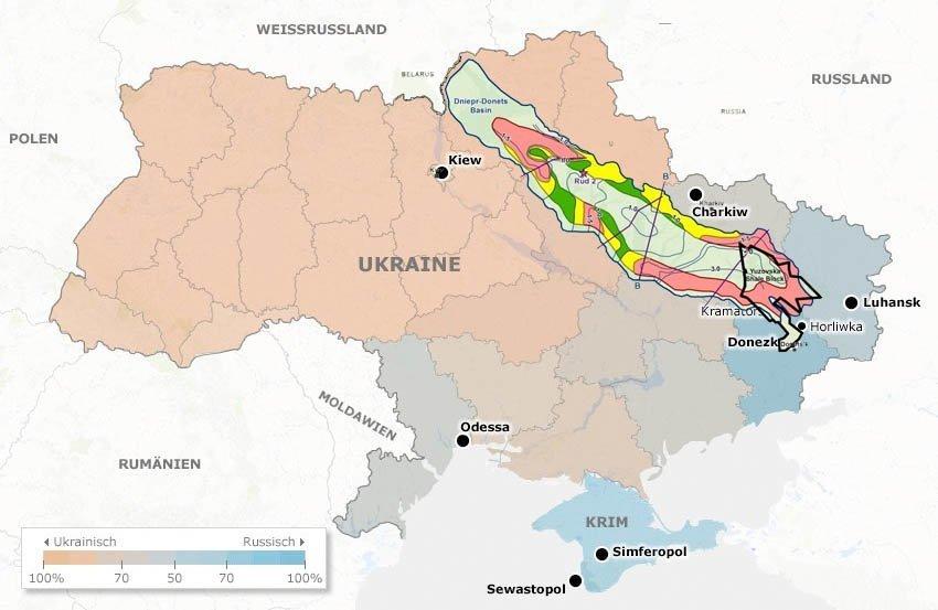 olje og gass øst ukraina