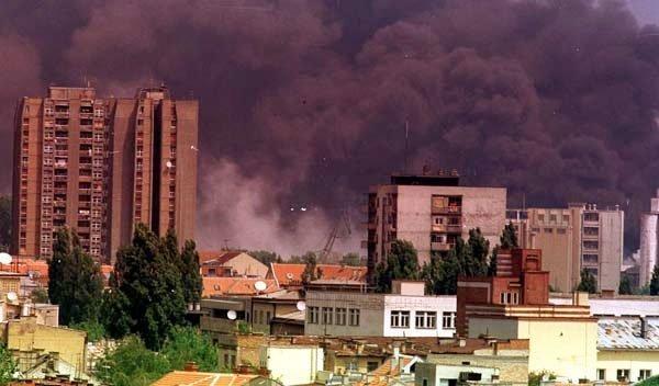 Fra NATOs bombing av Serbia i 1999