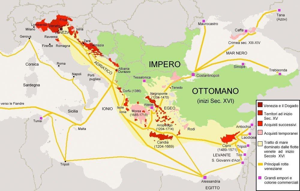 Venezias historiske kolonier