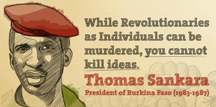 Thomas Sankara blir kalt Afrikas Che Guevara