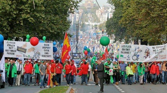 belgia streik