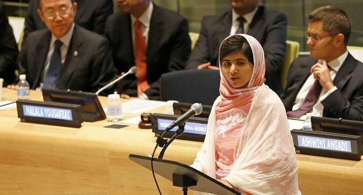 Malala taler i FN