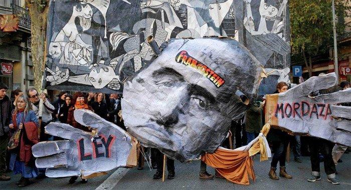spania protest
