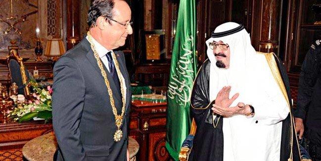 Hollande mottar Jeddahs æresorden av kong Abdullah