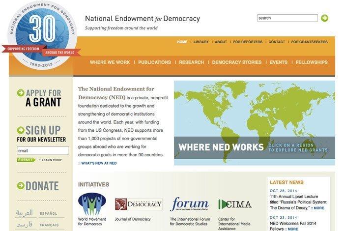 National Endowment for Democracy er CIAs redskap for å kanalisere penger og annen støtte til NGOer rundt om i verden.