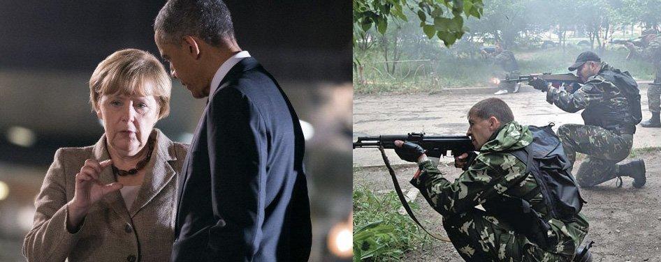 Merkal forklarer Obama hvor mye hun har råd til – mens kampene raser i Øst-Ukraina