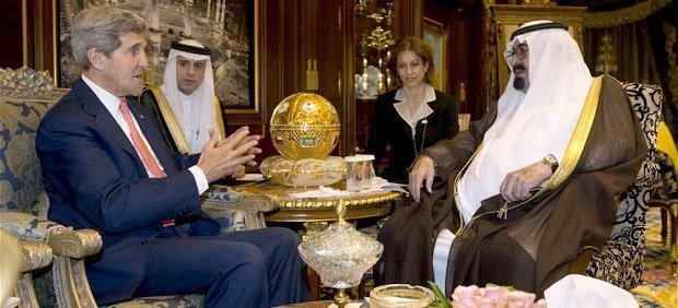John Kerry og kong Abdullah