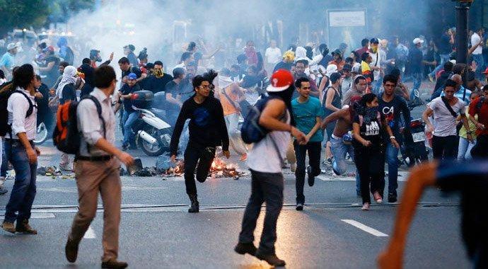 Fra urolighetene i Caracas i 2014