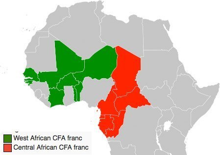 CFA-land Afrika