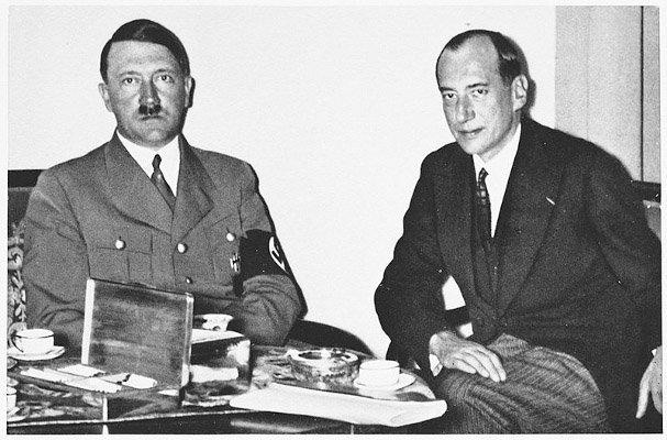 Eit av dei mange møta mellom Hitler og Józef Beck... Dette frå 1937.