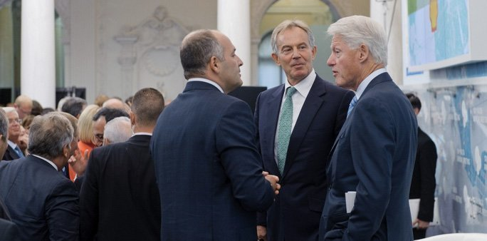 Victor Pinchuk, Tony Blair og Bill Clinton