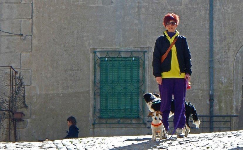 donna col cane