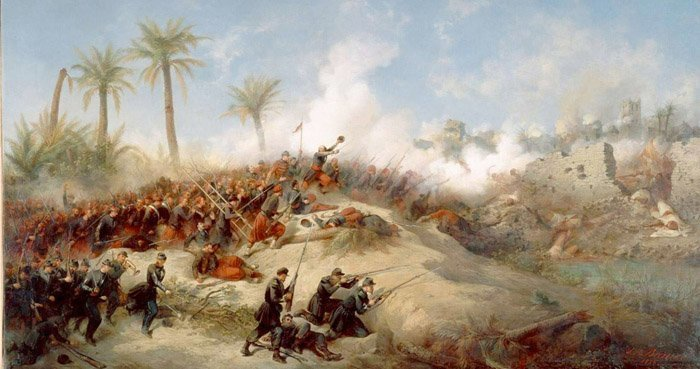 Franske tropper erobrer Algerie