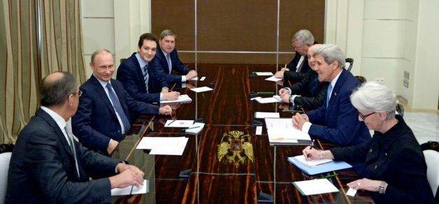 Møtet mellom Kerry, Putin og Lavrov i Sochi