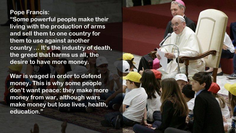 pave Francis om krig