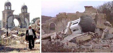 Mer enn 100 ortodokse serbiske kirker ble lagt i ruiner av NATOs bombefly