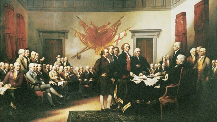 "John Trumbull's ""Declaration of Independence, July 4, 1776"""