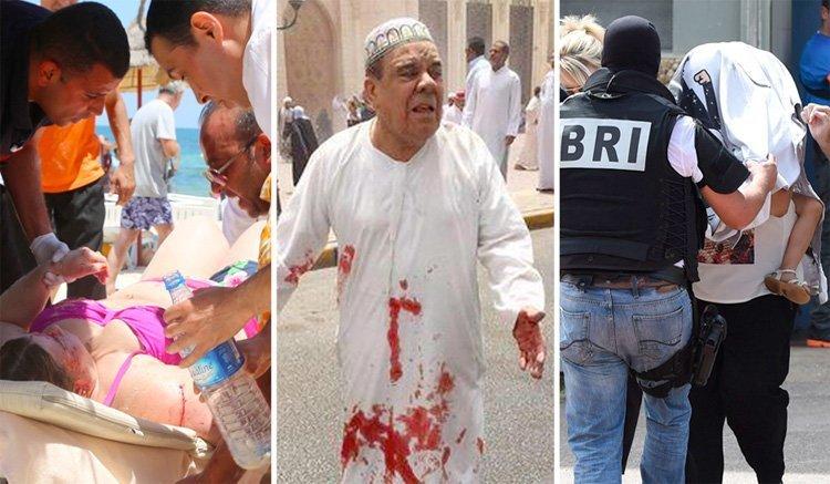 Terroraksjon mot turister i Tunisia, en moské i Kuwait og en fabrikk i Frankrike