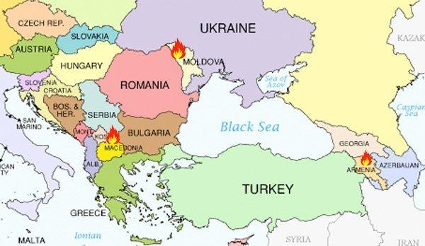kart fargerevolusjoner