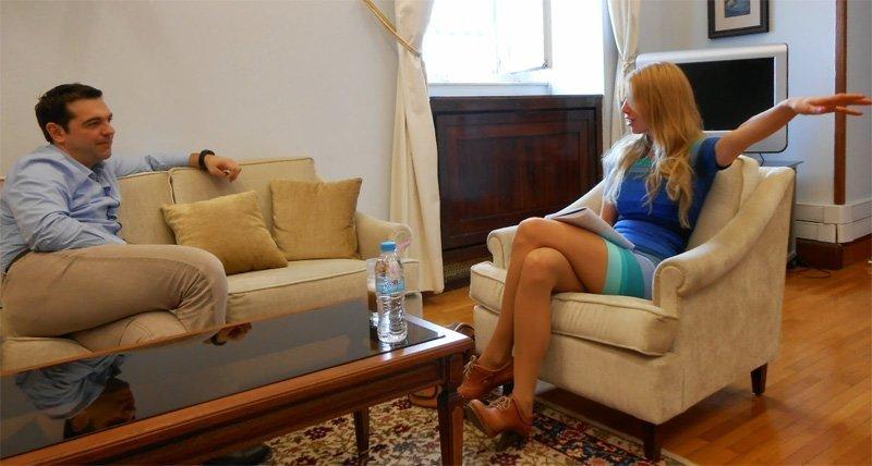 Alexis Tsipras og Kajsa Ekis Ekman