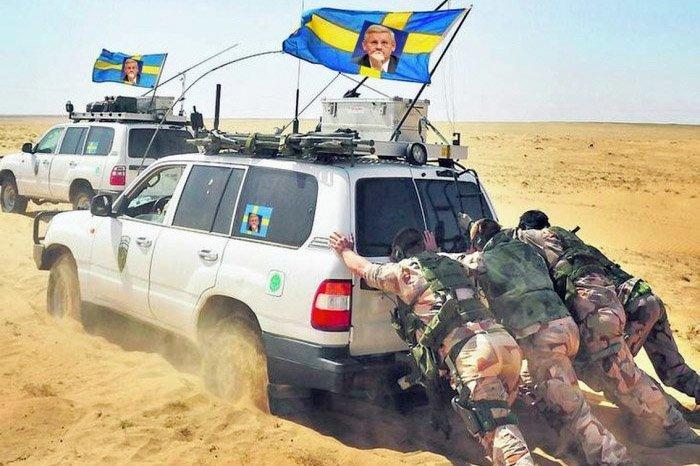 sverige militær ørken
