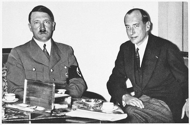 Adolf Hitler og Józef Beck i 1937