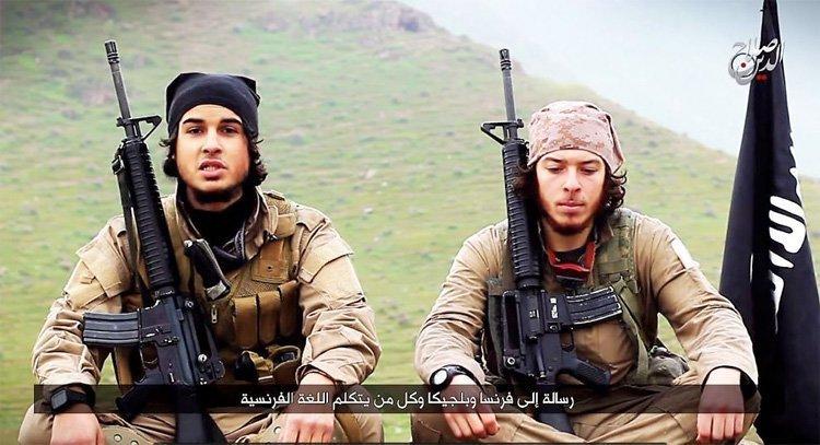 Stillbilde fra video der IS angivelig tar på seg ansvaret for terroren