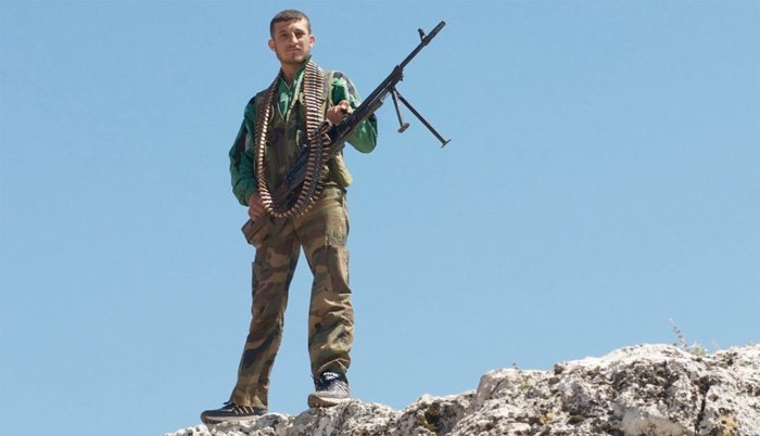 Soldat fra Free Syrian Army