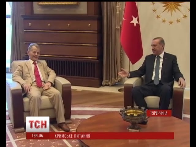Dzhemilev og Erdoğan i Ankara