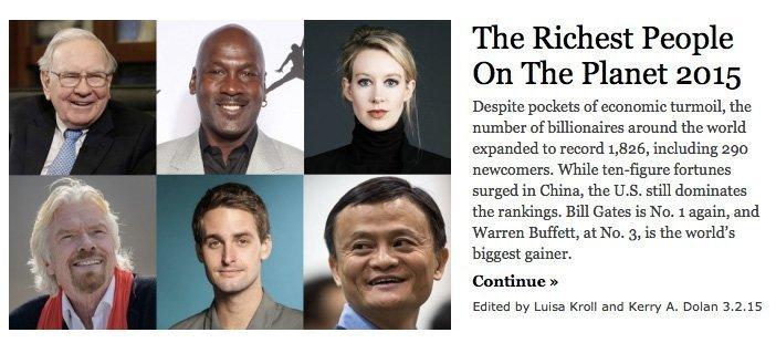 Fra milliardærlista til Forbes