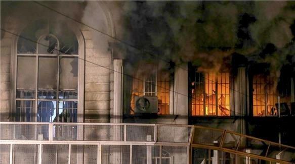 Saudi Arabias ambassade i Tehran i brann