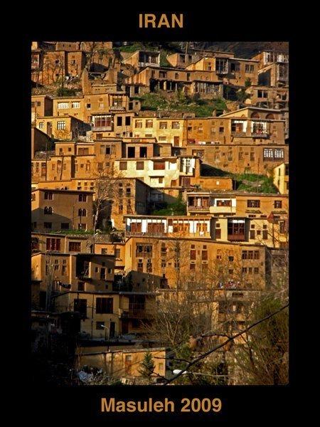Landsbyen Masuleh ikke langt fra Kaspihavet