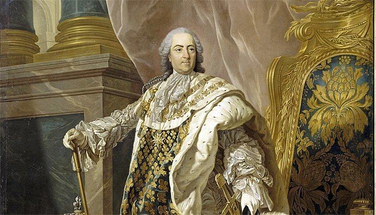 Frankrikes konge Ludvig 15. malt av Louis Michel van Loo