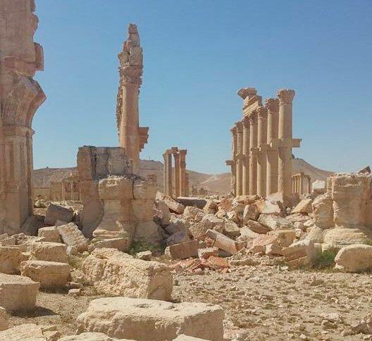 Palmyra er påført store skader av IS (Foto: Roald Aune)