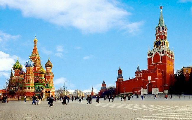 Den røde plass i Moskva