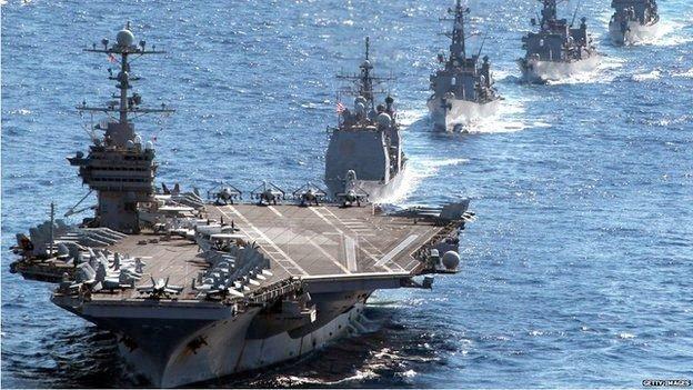 USA ruster kraftig opp mot Kina