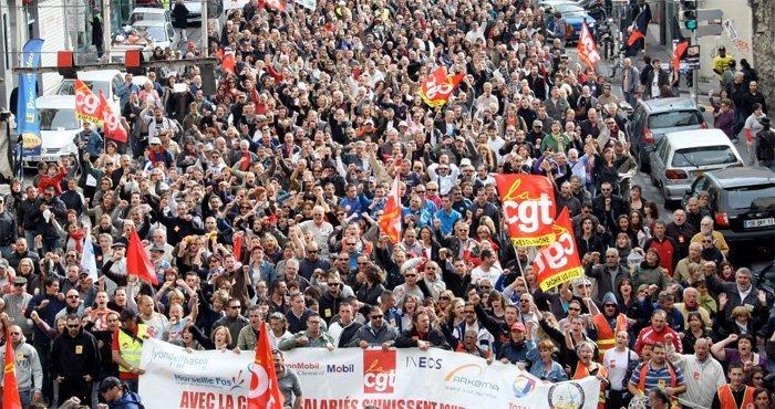 Demonstrasjonen mot loi el Khomri i Paris