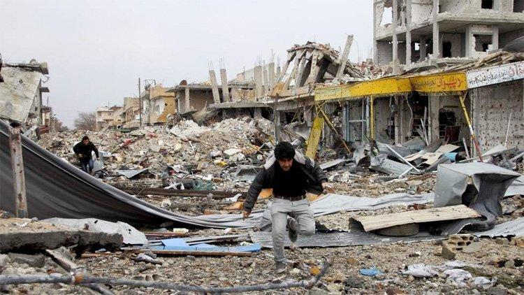 Ødeleggelsene i Kobane (foto: Klassekampen