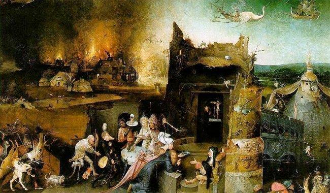 Detalj av St. Antonius' fristelse av Hieronimus Bosch