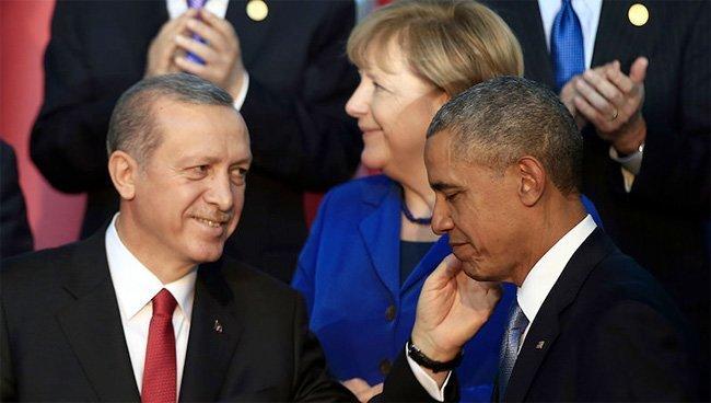 Erdogan og Obama under NATO-møtet i Tyrkia  (Kilde: Daily Sabah)