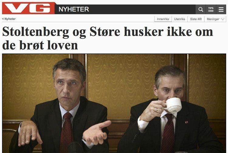 Dette oppslaget handler om at regjeringsmedlemmer har fått dyre gaver de ikke har oppgitt. Men Støre og Stoltenberg har begått alvorligere lovbrudd enn som så.