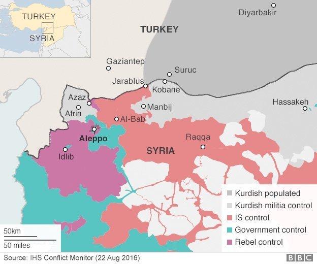 kart nordlige syria